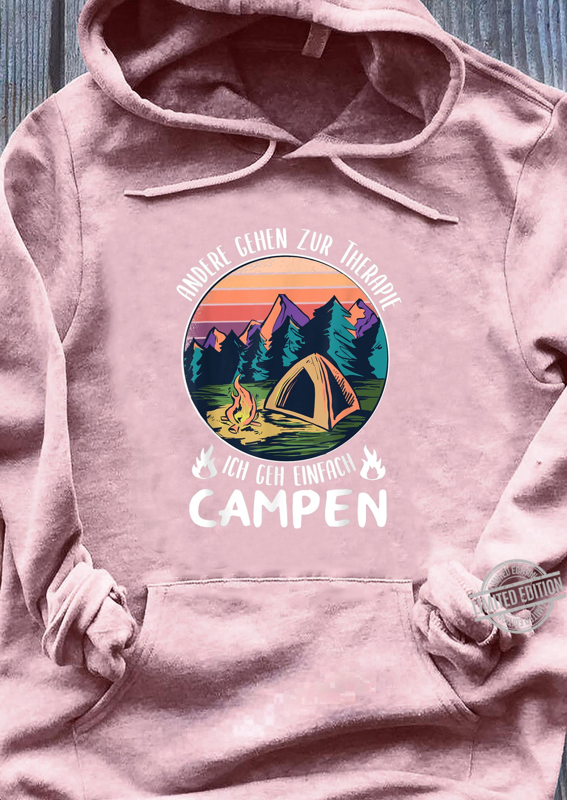 Camping Motiv Camper Spruch Wohnmobil Herren Geschenkidee Shirt