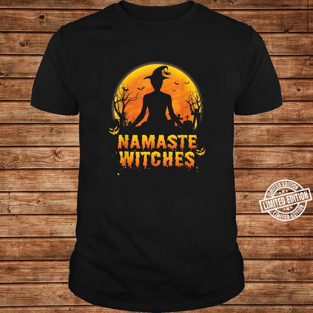 Funny Halloween Shirt Namaste Witches Yoga